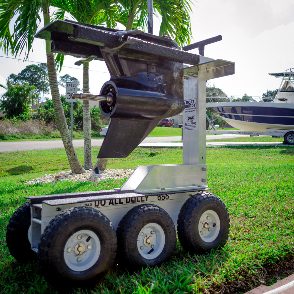 D.A.D Boat Buddy - Motor Stand and Transport Attachment