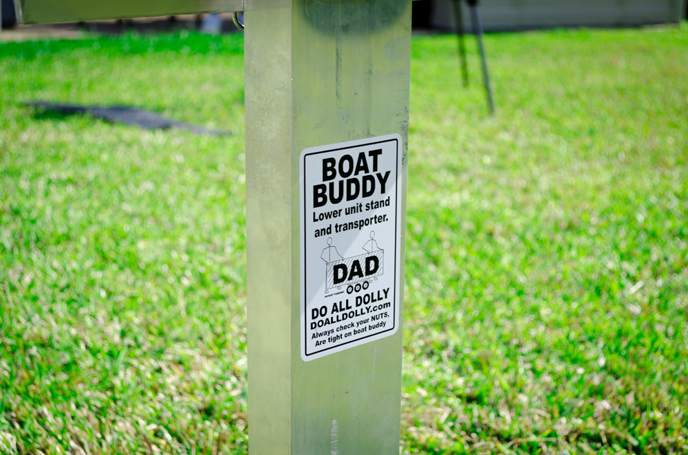 D.A.D Boat Buddy - Do All Dolly Motor Stand Attachment